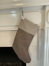 Pottery Barn Christmas Stocking Metallic Linen New In Packaging