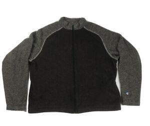 Kuhl Alfpaca Fleece Men 2XL Full Zip Brown Sweater Jacket