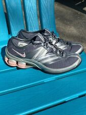 Nike Shox Womens Size 6.5 Silver and Pink Athletic Running Shoes 315330 EUC