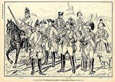 Die Grenadiere zur Pferde der preußischen Armee (1713-1786 ) Graphik von 1897
