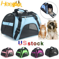 Outdoor Pet Dog Cat Puppy Portable Travel Carrier Tote Cage Bag Crate Kennel Box
