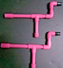 Pink Mini Marshmallow PVC Blow Guns Set of 2 Shooters Mini Mallows & Nerf Darts