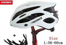 KINGBIKE Adult Bike Helmet Ultralight, Portable Bag and Rear Led Lighting,NWT