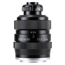 Zhongyi Mitakon 20mm f/2 4.5X Super Macro Lens for Mirrorless Sony Fuji M4/3