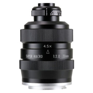 Zhongyi Mitakon 20mm f2 4.5X Super Macro Lens for Mirrorless Sony Fuji Micro 4/3