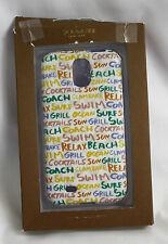 Coach Samsung Galaxy S4 case Cover NIB Summer Graffiti Blue White Signature C