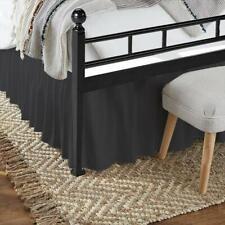 Bed Skirt With Split Corner Easy Fits Deep Elastics All Sizes Dark Grey Solid