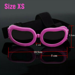 XS Small Dog Goggles UV Protection Doggy Sunglasses Windproof Pet Glasses Yorkie