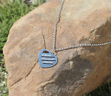 UK Love Heart Pendant Personalised Necklace Any Names Engraved Silver Jewellery