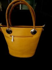 PRELOVED Ochre Tote Handbag With Adjustable Shoulder Strap