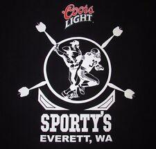 SPORTY'S - EVERETT, WA - COORS LIGHT - Men's size 2XL - Graphic T-Shirt