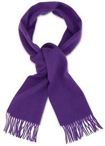 Biagio 100% Wool NECK Scarf Solid Purple Indigo Color Scarve for Men or Women