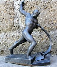 """FAMOSA SCULTURA DI SCULTORE Y. VUCETICH """" Let Us Beat Swords into Plowshares """" A"""