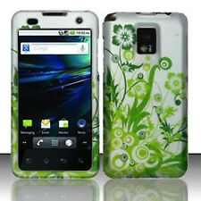 For LG T-Mobile G2X Rubberized Hard Case Snap on Phone Cover Green Vines