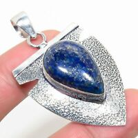 "Nice Lapis Lazuli Handmade Ethnic Style Jewelry Pendant 2.17"""