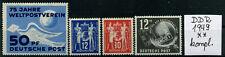 DDR Jahrgang 1949 postfrisch komplett