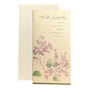 Sympathy Greeting Card for Loved Ones, Family and Friends - With Sympathy sorrow