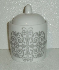 """Everyday Luxe Sugar Bowl Hotel Collection 4"""" Silver Scrolls"""