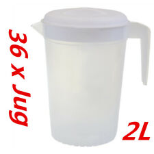 12 X 2l Plastic Pitcher N Lid Beer Water Juice Jugs BPA Dishwasher Safe Www