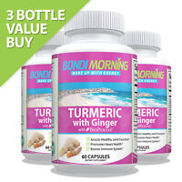Turmeric Curcumin Root With Ginger Extract & BioPerine Black Pepper, 60 Capsules