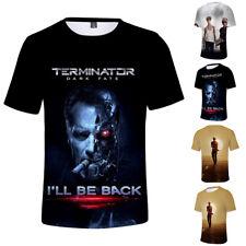 The Terminator T-Shirt Polyester Top Summer 3D Movie Short Sleeve Tee Crew Neck