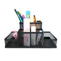 Porte-stylo en métal, bureau, rangement pour papeterie, boîte de rangement ZH