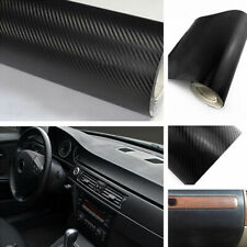 3D Carbon Fiber Texture Matte Black Vinyl Car Wrap Sticker Decal Film Sheet DIY