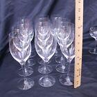 Orrefors Illusion Glass Works Sweden Set of 12 Large Red Wine Glasses