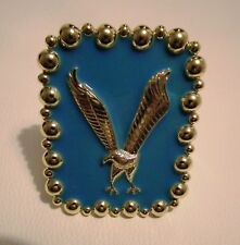 ELVIS PRESLEY CONCERT STYLE EAGLE CUFF IN GOLD AND TURQUOISE
