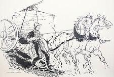 ARTUR MAROKVIA ORIGINAL ILLUSTRATION DRAWING AMERICAN HERITAGE 1958