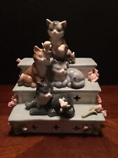 San Francisco Music Box co. Anna Rose Collection Music Box Cats bill cleaver