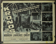KRONOS 1957 ORIG 22X28 MOVIE POSTER JEFF MORROW BARBARA LAWRENCE JOHN EMERY