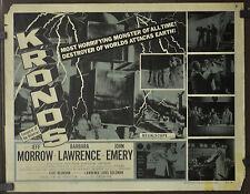 KRONOS 1957 ORIG 22X28 MOVIE POSTER JEFF MORROW BARBARA LAWRENCE JOHN EMERY