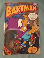 vintage 1993 BARTMAN #1 BART SIMPSON comic book SILVER INK Bongo Comics Group NM