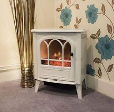 Neuf blanc électrique 1800 W cheminée chauffage cheminée poêle LOG Burn effet flamme