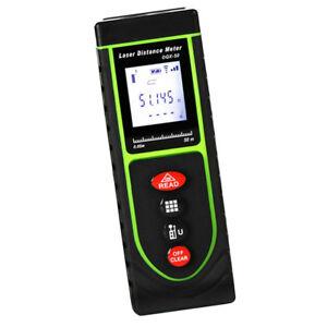 Digital Laser Measurer 50m/164ft Distance Meter Handheld Range Finder Green