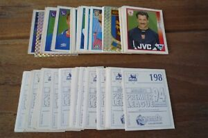 Merlin Premier League 94 Football Stickers no's 1-249 - Pick Stickers You Need!