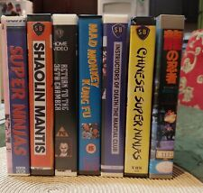 Rare Chinese Kung Fu Action Lot VHS Shaw Brothers 7 Movies