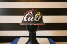 CALI Headlines Snapback Hat Palm Tree Fronds Colorful Pattern California Cap