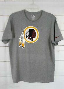 Washington Redskins Short Sleeve Gray Nike Tee Men's S T-Shirt Chief Logo New