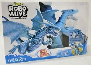 NEW Zuru Robo Alive Real Life Robotic Pets Ice Blasting Dragon Ages 3+ RRP $40