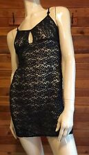 MARILYN MONROE BLACK LACE SIZE SMALL BABYDOLL NIGHTGOWN or SLIP