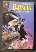 1988 The Greatest BATMAN Stories Ever Told HC/DJ VF/FN- 1st Printing DC