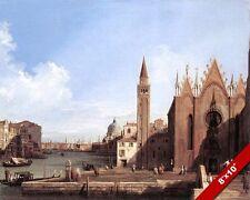 VENICE ITALY SANTA MARIA TO SAN MARCO LANDSCAPE PAINTING ART REAL CANVAS PRINT