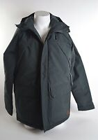 2015 NWT MENS BILLABONG TORFINO JACKET $175 L stealth parka quilted snap front
