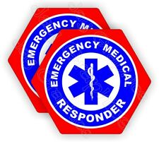 Emergency Medical Responder Hard Hat Stickers | Firefighter Rescue Helmet Decals