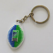 Rugby World Cup 2003 Ball Shaped Logo Key Ring - Rubber