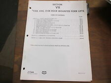 Case 430 440 310 B forklift fork lift service & repair manual