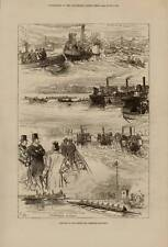 SUPERB 1878 ILLUSTRATION . SKETCHES AT THE BOAT RACE