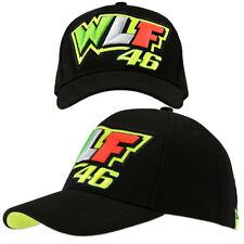 Valentino Rossi VR46 Negro carrera oficial WLF 46 adultos Gorra de béisbol Snap Back